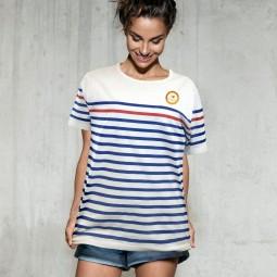 T-shirt marinière manches...